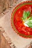 Nationell röd soppaborsch för ukrainare och för ryss Royaltyfria Bilder