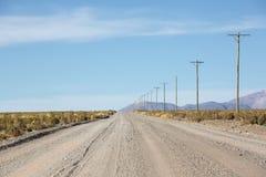 Nationell rutt 40 i nordliga Argentina Arkivbilder