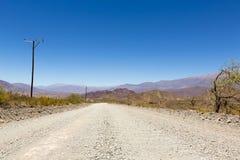 Nationell rutt 40 i nordliga Argentina Fotografering för Bildbyråer