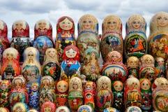 nationell rysssouvenir för matryoshka Fotografering för Bildbyråer