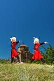Nationell sång- och danshelhet av Georgia Erisioni Fotografering för Bildbyråer