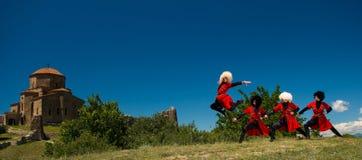 Nationell sång- och danshelhet av Georgia Erisioni Arkivbild