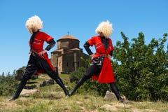 Nationell sång- och danshelhet av Georgia Erisioni Arkivbilder