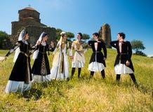 Nationell sång- och danshelhet av Georgia Erisioni Royaltyfria Foton