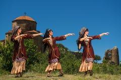 Nationell sång- och danshelhet av Georgia Erisioni Royaltyfri Foto