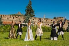 Nationell sång- och danshelhet av Georgia Erisioni Royaltyfria Bilder
