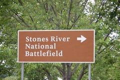 Nationell slagfält Murfreesboro Tennessee för stenflod arkivbild