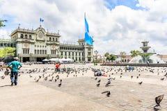 Nationell slott av kultur, Plaza de la Constitucion, Guatemala arkivfoton