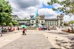 Nationell slott av kultur, Plaza de la Constitucion, Guatemala royaltyfri fotografi