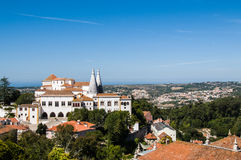 Nationell slott av Sintra Royaltyfri Bild