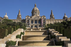 Nationell slott - Barcelona - Spanien Royaltyfria Bilder