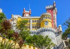nationell slottpena Palacio Nacional da Pena, Sintra, Portugal Royaltyfri Bild
