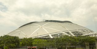 Nationell stadion i Singapore Arkivfoto