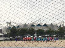 Nationell stadion parkerar Bangkok Thailand - 1 Oktober 2017 arkivbild