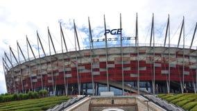 Nationell stadion PGE Narodowy i Warszawa arkivfoto