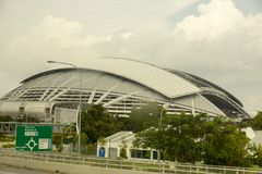 Nationell stadion, Singapore Arkivfoto