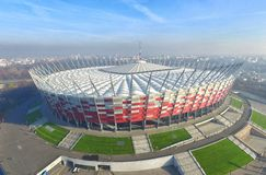 nationell stadion warsaw Arkivfoton