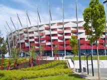 Nationell stadion, Warsaw, Polen Arkivbild