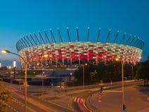 Nationell stadion, Warsaw, Polen Royaltyfria Foton