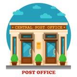 Nationell stolpe - kontor för postservice royaltyfri illustrationer