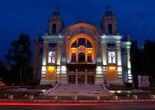 Nationell teater av Cluj-Napoca, Rumänien Fotografering för Bildbyråer