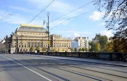 Nationell teater från Prague Royaltyfri Foto