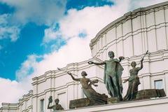 Nationell teater för för akademikerBolshoi opera och balett av Republiken Vitryssland Royaltyfria Foton