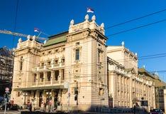 Nationell teater i Belgrade Arkivbilder