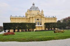 Nationell teater i Zagreb, Kroatien Royaltyfri Foto