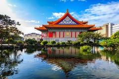 Nationell teater och Guanghua damm, Taipei Royaltyfri Fotografi