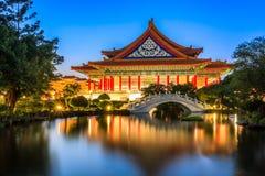 Nationell teater och Guanghua damm, Taipei Arkivfoton