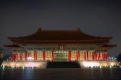 Nationell teater på skymning i Taipei, Taiwan royaltyfri fotografi