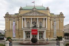 Nationell teater Rijeka Royaltyfri Bild