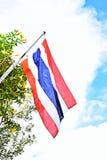 Nationell thailändsk flagga arkivfoto