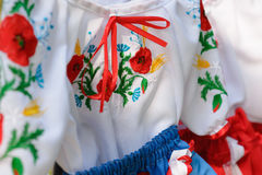 Nationell ukrainare broderad shirtÑŽ Arkivfoto