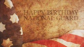 Nationell vakt för lycklig födelsedag Amerika flagga Arkivbild