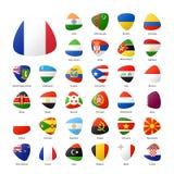 Nationella deltagareflaggor av sommarsporten spelar i Rio de Janeiro vektor illustrationer