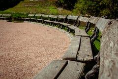 Nationella dendrological parkerar `-Sofiyivka `, Uman, Ukraina Sofiyivka är en scenisk gränsmärke av världen som arbeta i trädgår Royaltyfri Fotografi