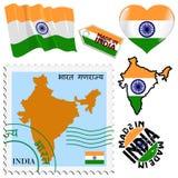 Nationella färger av Indien Royaltyfria Bilder