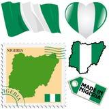 Nationella färger av Nigeria royaltyfri illustrationer