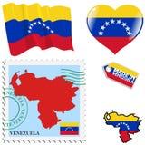 Nationella färger av Venezuela Arkivbild