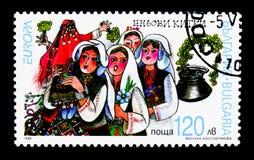 Nationella festivaler och dagar Europa (C E P T ) 1998 - festmåltider och royaltyfri fotografi