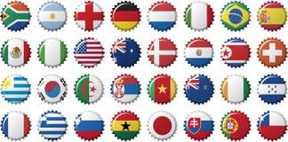 nationella landsflaggor royaltyfri illustrationer