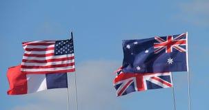 Nationella landsflaggor Arkivbild