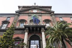 Nationellt arkeologiskt museum, Naples, Italien arkivfoto