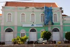Nationellt arkiv av Kap Verde, kolonial gammal byggnad arkivfoto