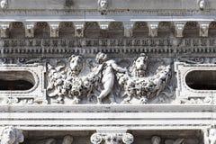Nationellt arkiv av St Mark ` s Biblioteca Marciana, fasad, Venedig, Italien arkivfoto