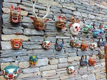Nationellt arkiv för maskeringsyttersida av Bhutan, Thimphu Royaltyfri Fotografi