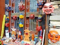 Nationellt arkiv för maskeringsyttersida av Bhutan, Thimphu Arkivfoton