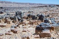 Nationellt geologiskt parkerar HaMakhtesh HaRamon israel arkivbilder